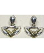 Vintage Taxco Sterling Silver & Vermeil Earrings - $57.99