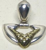 Vintage Taxco Sterling Silver & Vermeil Earrings
