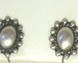 Brush finsih sterling silver screw back earrings2 thumb155 crop