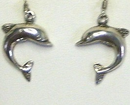 Sterling Silver Curved Dolphin Earrings - $17.99