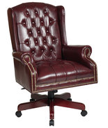 High Wing Back Swivel Lounge Oxblood Burgundy V... - $309.99