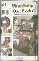 Simplicity Sewing Pattern 9234 Home Decorating Quilt Block Club Fan Bow ... - $9.98