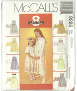 McCall's Sewing Pattern 9285 Girls Dress Jacket... - $9.98