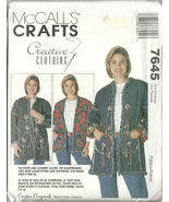 McCall's Sewing Pattern 7645 Misses Womens Jack... - $14.98