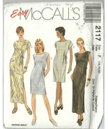 McCall's Sewing Pattern 2117 Misses Womens Dres... - $14.98