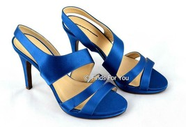 J Crew Women's Georgine Silk Platform Heels Azure Blue Womens Shoes Pump... - $27.59