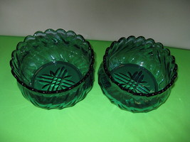 Indiana Glass Tiara Exclusives 2 Blue Lotus Lilly Bowls, Candy or Nut Di... - $39.00