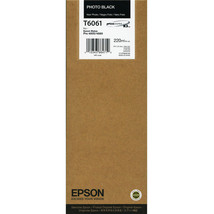 Photo Black EPSON Pro T6061 Ink 4880 4800 T606100 toner Printer inks picture - $111.91