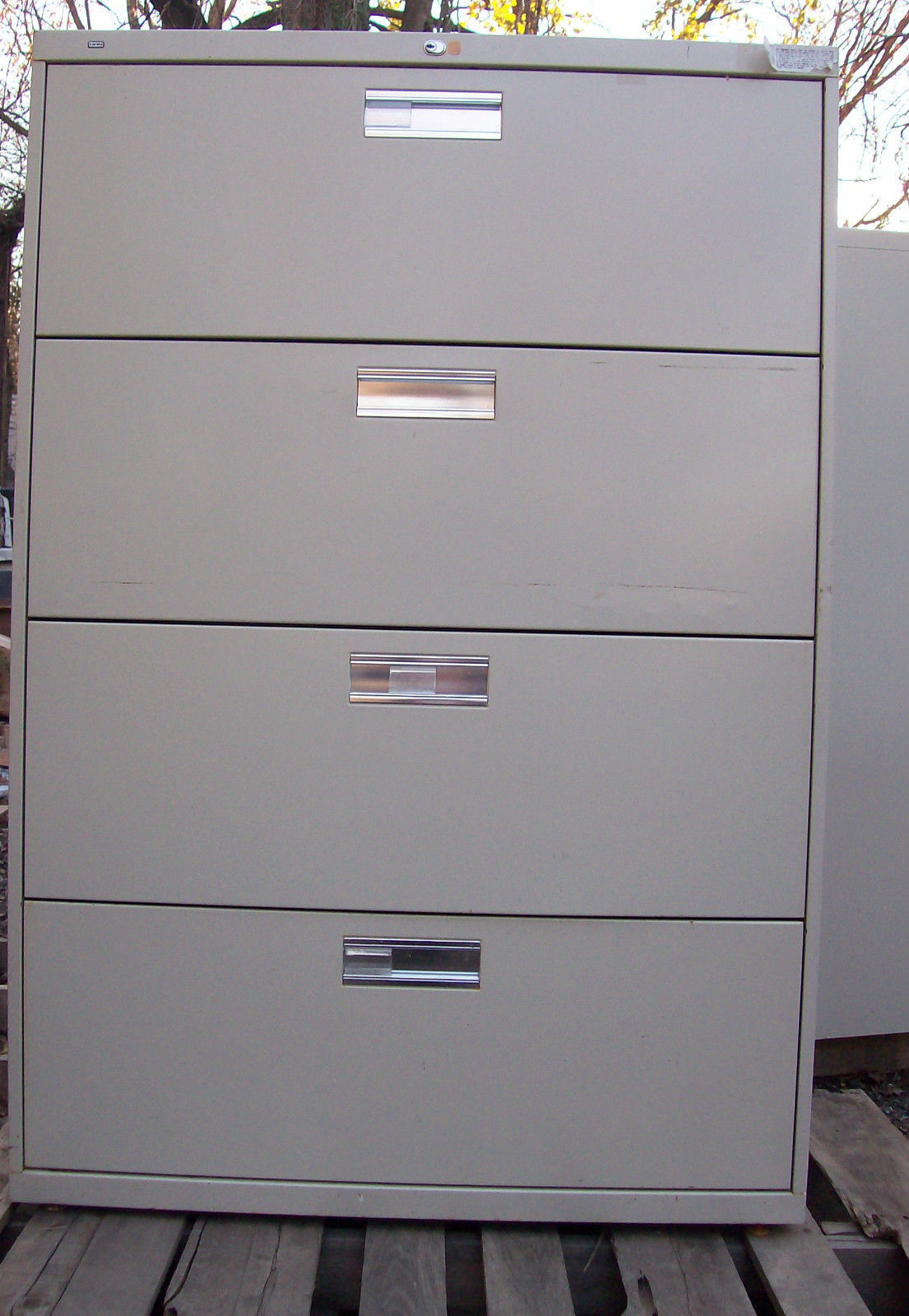HON 4 Drawer File Cabinet files storage office business lock store metal : four drawer file cabinet metal - Cheerinfomania.Com