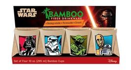 Vandor Star Wars 4-Piece 10-Ounce Bamboo Cup Set (99103) 10 oz - £13.48 GBP