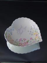 A Special Thank You Heart Shaped Floral Dish Mikasa Bone China Narumi Japan - $16.60
