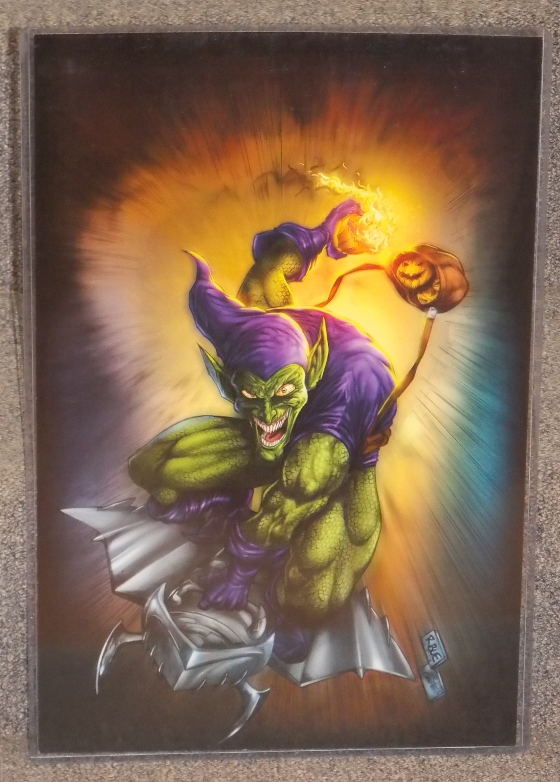 Primary image for Spider-Man Green Goblin Glossy Print 11 x 17 In Hard Plastic Sleeve