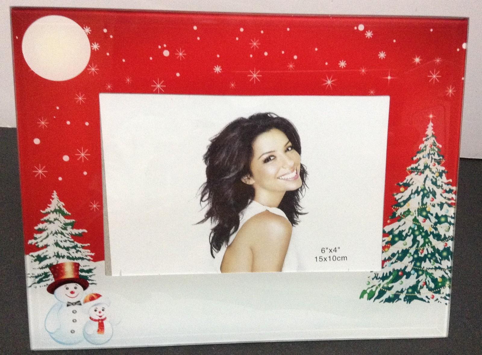 """Christmas Photo Frame Glossy NWT 8.5"""" x 6.5"""" Future Sleek NIB"""