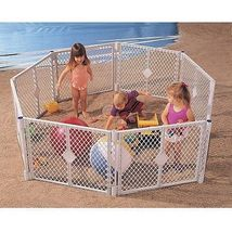 Large 8 Panel Portable Baby Playpen Child Play ... - $94.04
