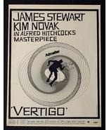 1958 VERTIGO ALFRED HITCHCOCK HOLY GRAIL WHITE MOVIE POSTER AD! SAUL BAS... - $386.82