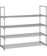 Homebi 4-Tier Shoe Rack Metal Shoe Tower 20-Pair Shoe Storage Organizer ... - $31.99