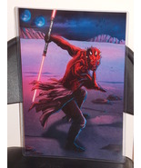 Star Wars Darth Maul Glossy Print 11 x 17 In Hard Plastic Sleeve - $24.99