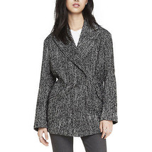 NEW EXPRESS $198 DOUBLE BREASTED TWEED COCOON COAT JACKET SZ SMALL - $38.54
