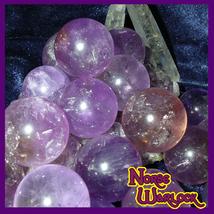 3 Amethyst Sphere Crystal Ball 4 Psychic Energy & Spirit Offerings! Paranormal  - $20.00