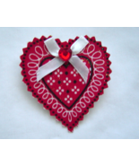 Handcrafted Country Heart Pin - £3.03 GBP