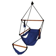 Blue Hanging Hammock Chair Home Patio Yard Camping Zero Gravity Swing Ou... - $93.28