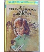 Nancy Drew MYSTERY #54 STRANGE MESSAGE IN THE PARCHMENT - $3.00