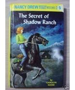 Nancy Drew THE SECRET OF SHADOW RANCH Carolyn Keene - $2.50