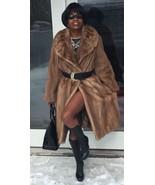 Designer Dittrich full length Sable brown Mink Fur coat jacket Stroller ... - $1,199.99