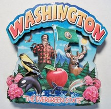 Washington the Evergreen State Artwood Montage ... - $6.00