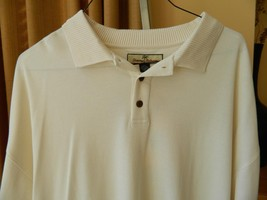 Tommy Bahama Polo Shirt SIlk Cotton Off WHite Mens Top NWT XXL - $64.35