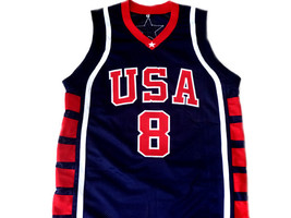 Carmelo Anthony #8 Team USA BasketBall Jersey Navy Blue Any Size  image 1