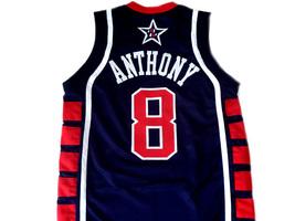 Carmelo Anthony #8 Team USA BasketBall Jersey Navy Blue Any Size  image 5