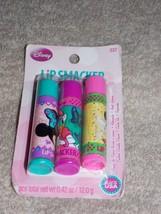3 Lip Smacker COTTON CANDY CRUSH CUTIE PIE CUPCAKE Lip Balms .42 oz New - $8.81