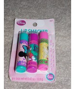 3 Lip Smacker COTTON CANDY CRUSH CUTIE PIE CUPCAKE Lip Balms .42 oz New - $8.81