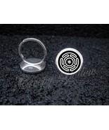 925 Sterling Silver Adjustable Ring Hecate's wheel Strophalos Lunar Goddess - $34.65