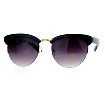 Womens Half Rim Sunglasses Round Cateye Top Fashion Eyewear - $9.95