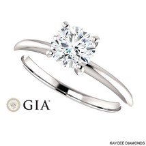 3/4 (0.75) Carat GIA Certified Diamond Ring in 14K Gold (with GIA certif... - $2,599.00