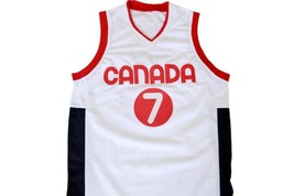 Steve Nash #7 Team Canada Basketball Jersey White Any Size image 4