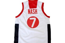Steve Nash #7 Team Canada Basketball Jersey White Any Size image 5