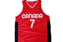 Steve Nash #7 Team Canada Basketball Jersey Red Any Size image 4