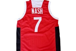 Steve Nash #7 Team Canada Basketball Jersey Red Any Size image 5