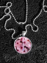 Cherry Blossom Flowers Pendant Necklace - $14.00+