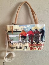 Rolfs American Line Southampton Cherbourg New York Purse NWT Dog Men Smo... - $11.29