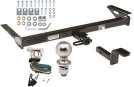 COMPLETE TRAILER HITCH PACKAGE W WIRING KIT FOR 1997-2001 JEEP CHEROKEE ... - $220.49