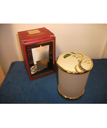 LENOX CHRISTMAS VOTIVE CANDLE HOLDER W/ COVER & METAL STAND PRETTY  - $18.68