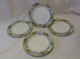 Adderley England Best Bone China Antique ALMORA Set of Four (4) Salad Pl... - $14.98
