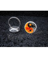 925 Sterling Silver Adjustable Ring Yin Yang Sun Moon Night Day Taoism C... - $34.65
