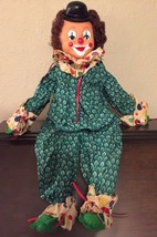 "Vintage Hand Made Creepy Cute Clown Doll 23"" Si... - $23.36"