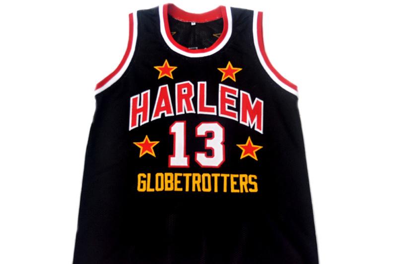 df47c57d ... Wilt Chamberlain 13 Harlem Globetrotters Basketball Jersey .