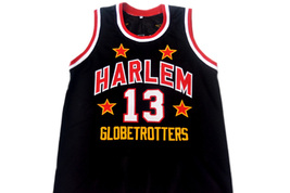 Wilt Chamberlain #13 Harlem Globetrotters Basketball Jersey Black Any Size image 1